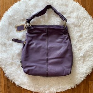 NWOT B. Makowsky leather hobo bag